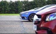Brutálne zrýchlenie športových sedanov/kombi v akcii! Kto vyhrá?