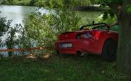 ČS Autoslalom Agrokomplex a Honda S2000 skoro vo vode