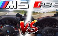 Porovnanie BMW M5 a Audi RS6 na diaľnici v Nemecku