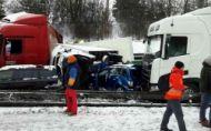 Pozrite si minúty hrôzy a nehody na diaľnici D1 pri Brne