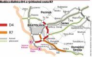 Štát vraj potichu zužuje plánované diaľnice okolo Bratislavy D4 a R7, tvrdí OZ Triblavina